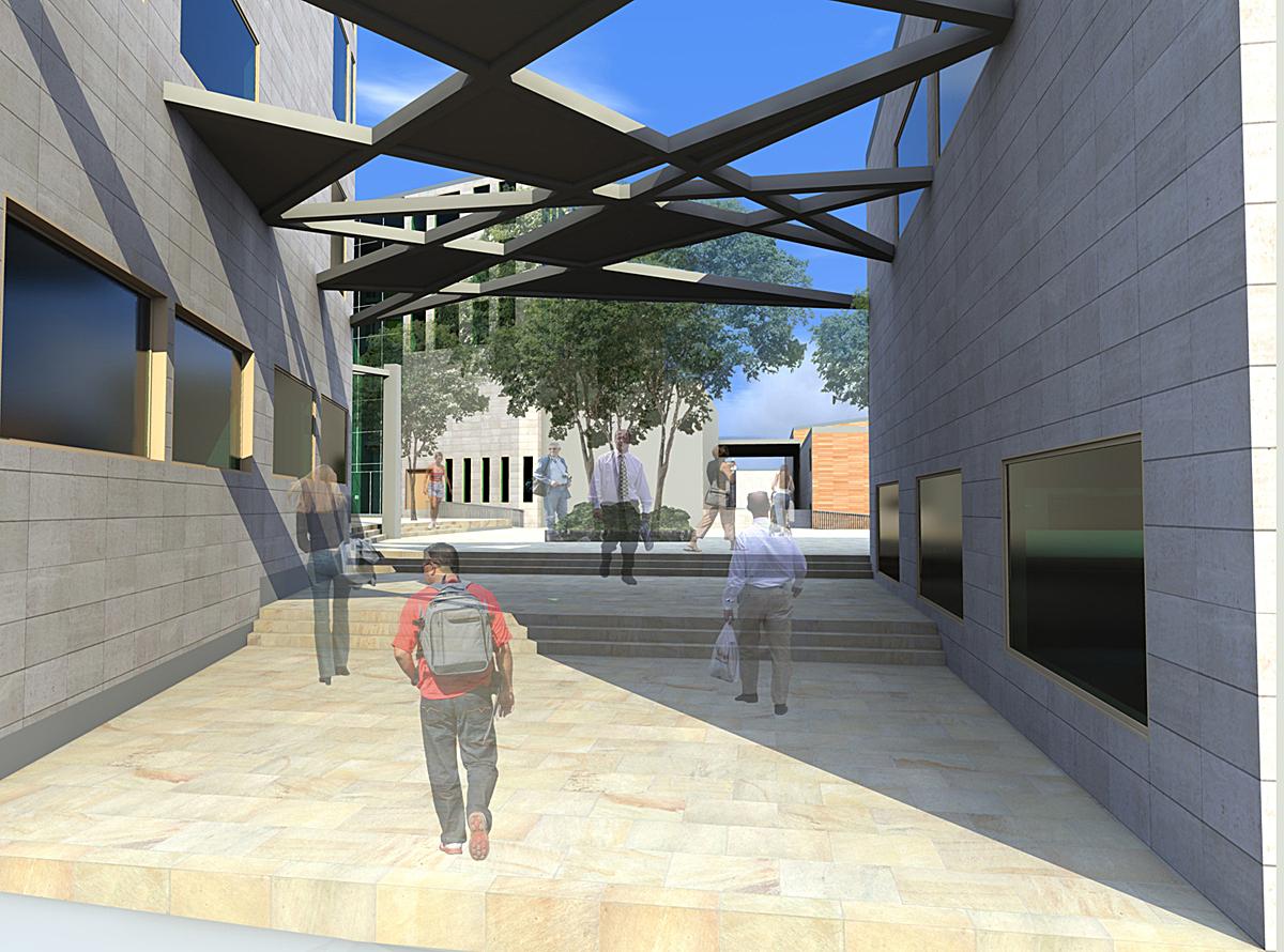 Interior-Courtyard access