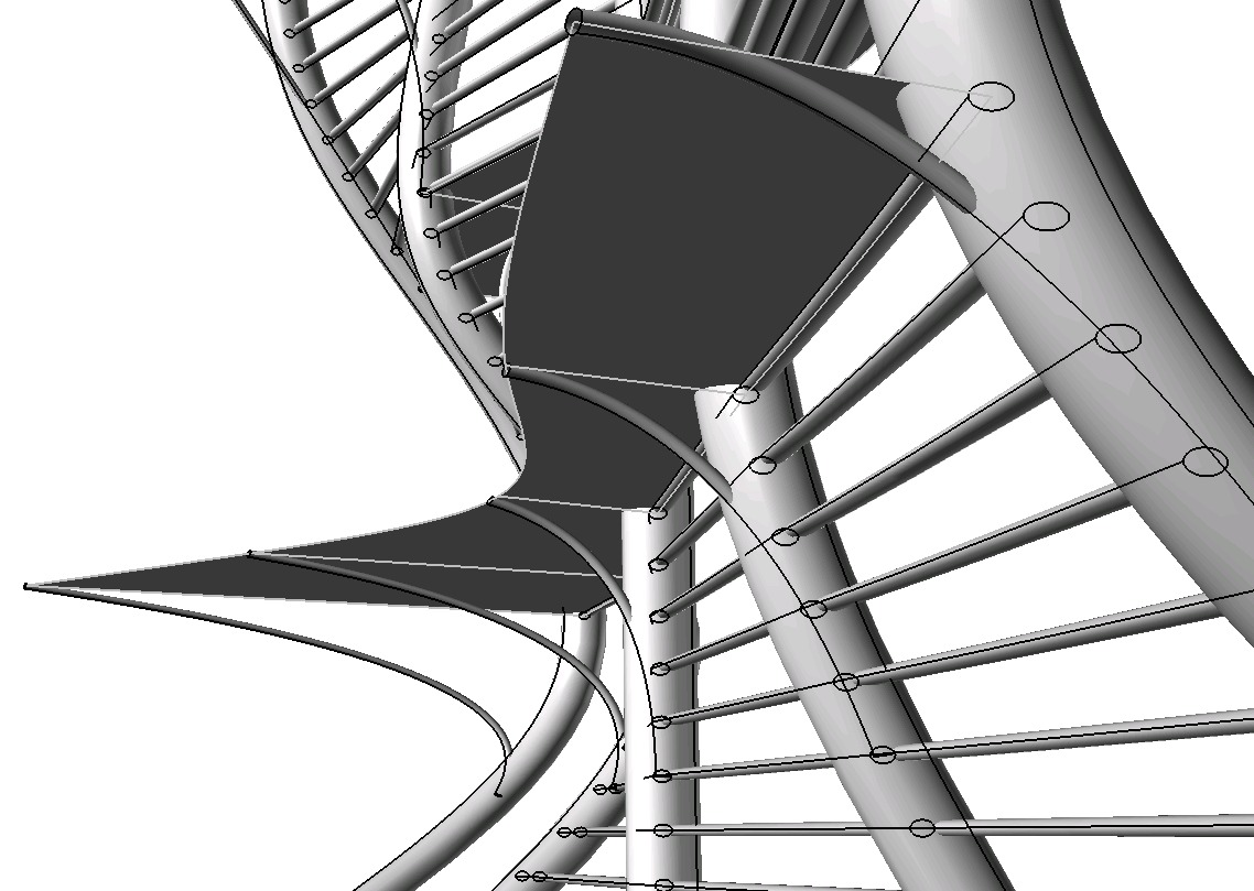 View of Walkway from Beneath | Generative Components