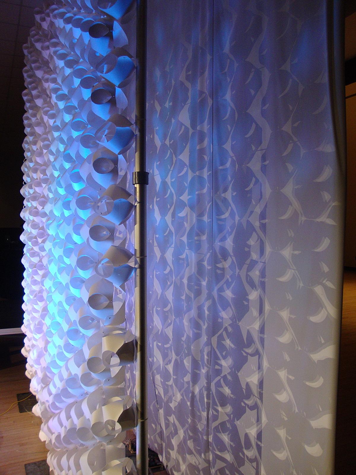 Lighting effects between panels