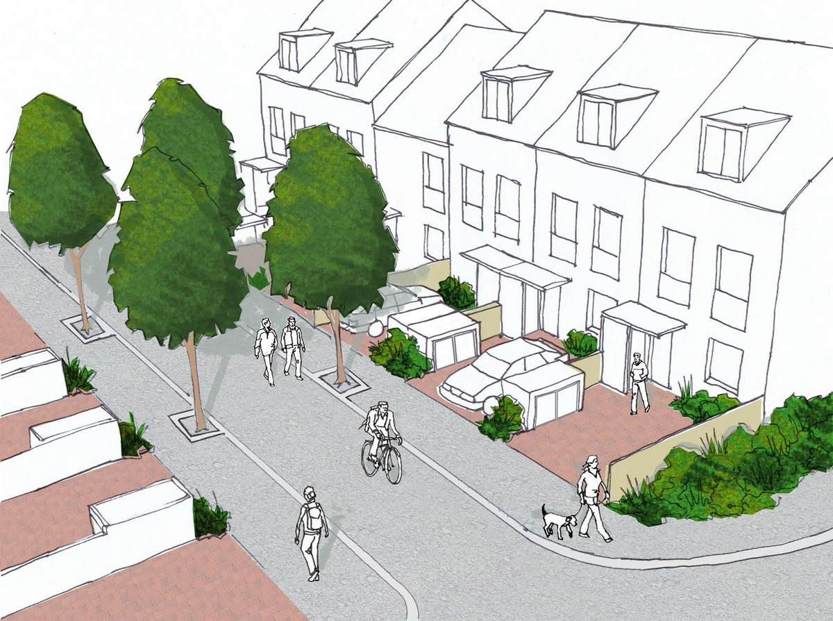 Oxford Stadium Residential Development Mews Sketch