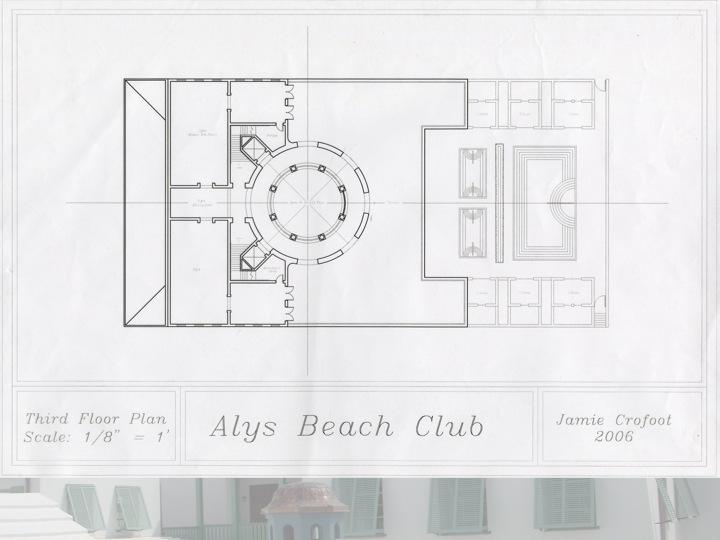 3rd Floor Plan of the Beach Club