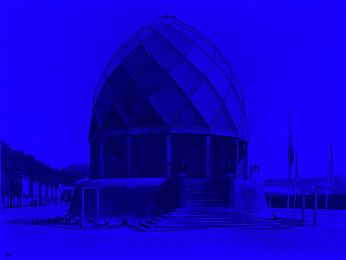 Original image: The Glass Pavilion by Bruno Taut, Cologne Werkbund Exhibition, Baukunstarchive, Akademie Der Künste, Berlin.