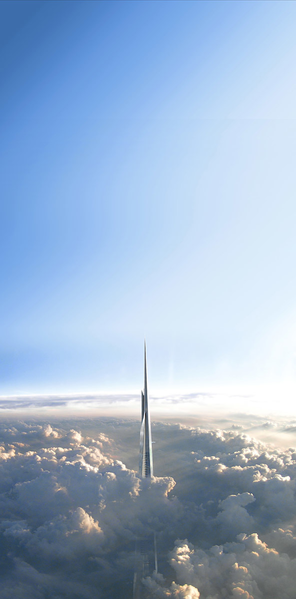 View from the clouds (Image: Adrian Smith + Gordon Gill Architecture)