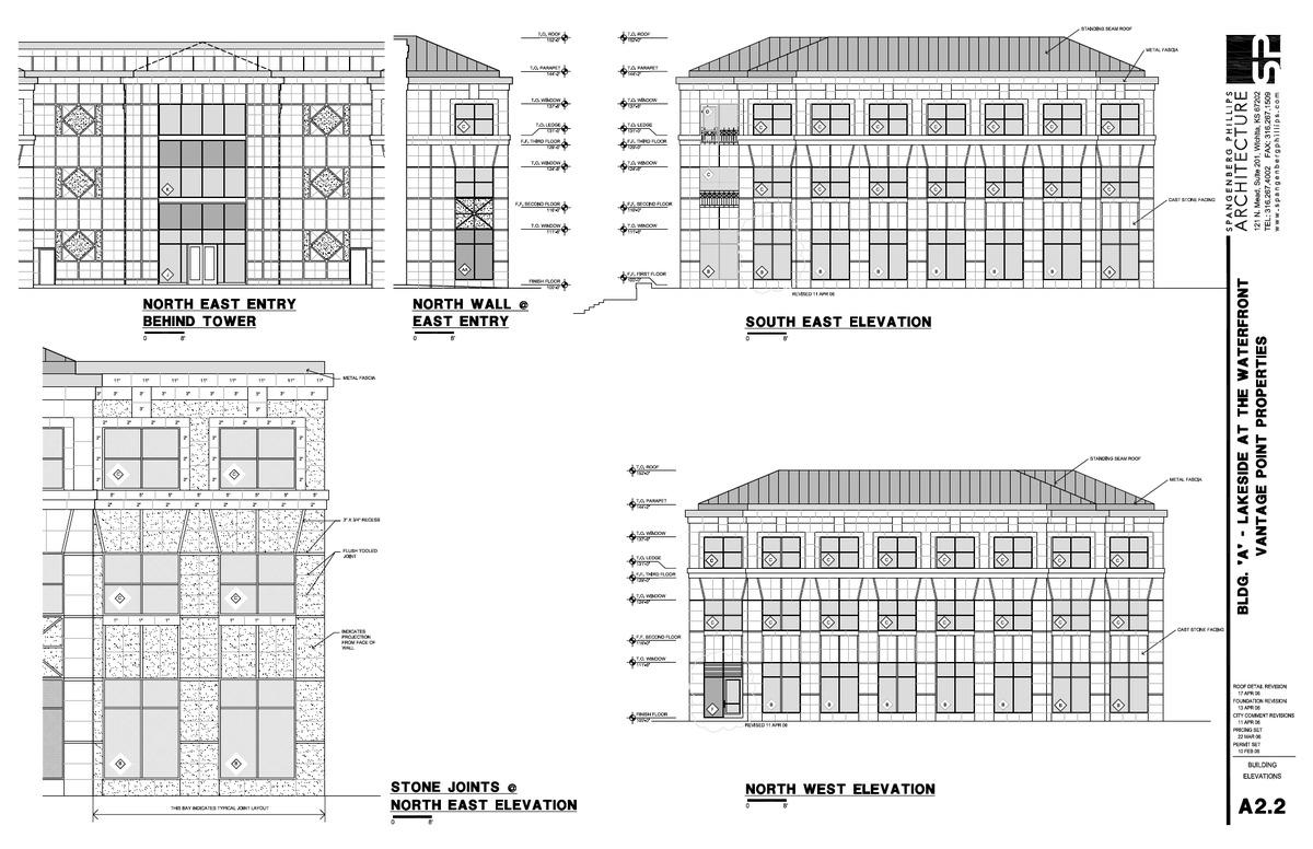 Vantage Elevations and Details