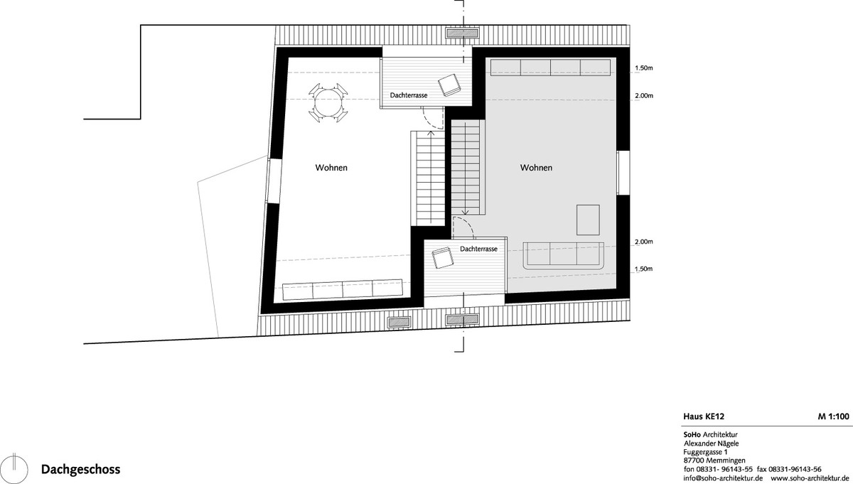 Attic story plan (Image: SoHo Architektur)