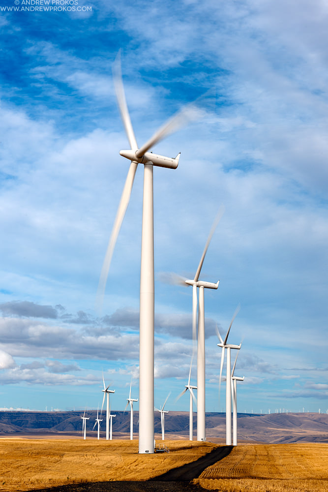 Wind Turbines, Oregon © Andrew Prokos