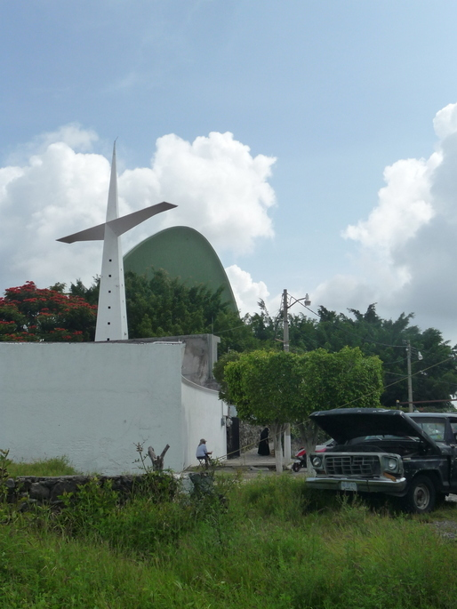 Félix Candela's Chapel Lomas de Cuernavaca via Alec Perkins.