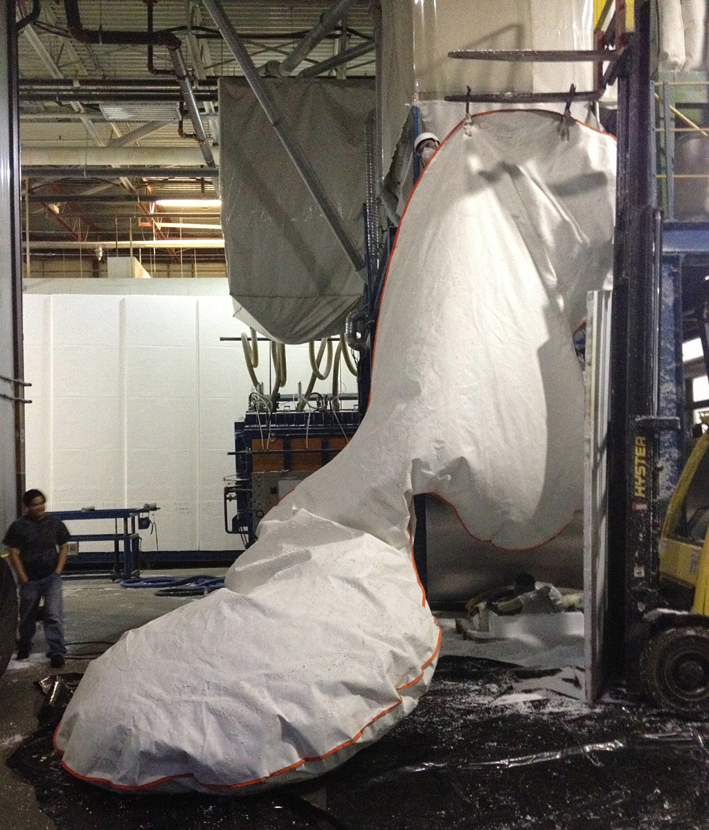 Fabrication at Mansonville Plastics ( Photo: M. Soules)