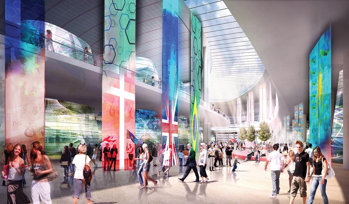 International Pavilion. Image © Adrian Smith + Gordon Gill Architecture