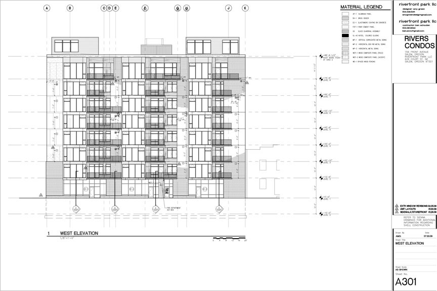 CAD exterior elevation for project