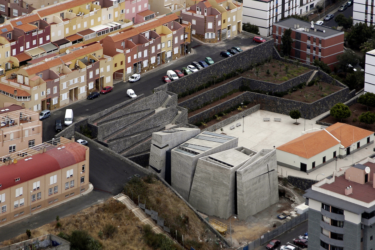 The Holy Redeemer Church in Tenerife. Image courtesy of Menis Arquitectos