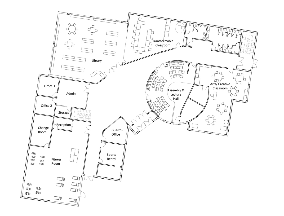 School ground floor plan