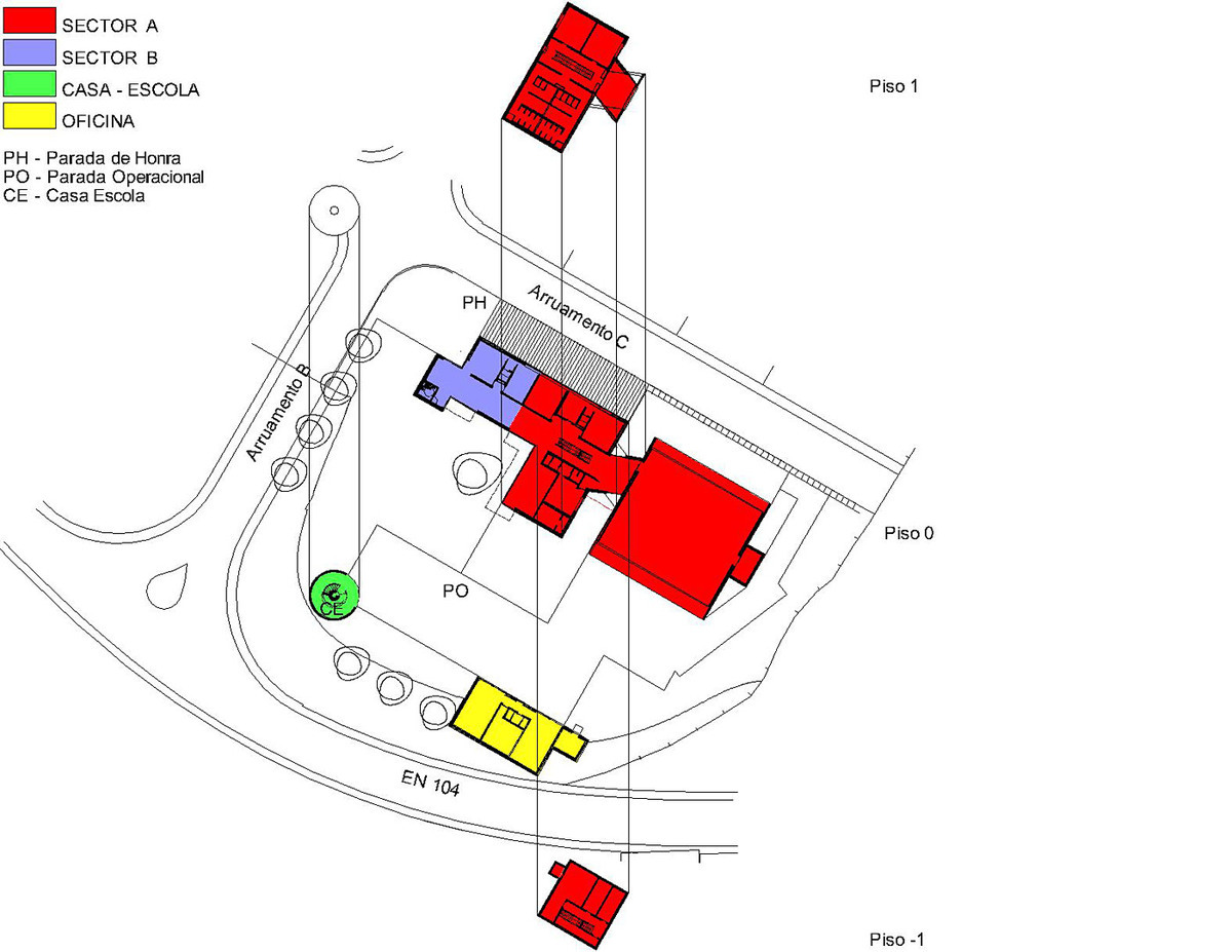 (diagram) of fire station in Santo Tirso, Portugal opened on January 13, 2013 and is the first fire station designed by Pritzker Prize winner Álvaro Siza Veira