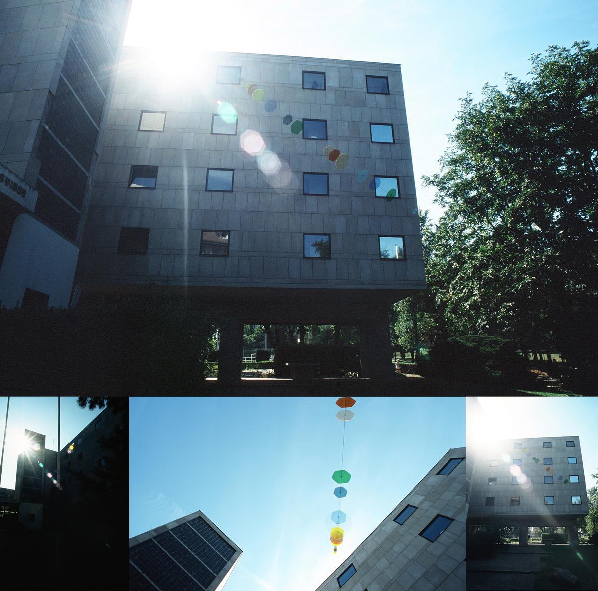 Double Halo, Pavilion Suisse, Le Corbusier, Paris 2008. Image courtesy of the artist.