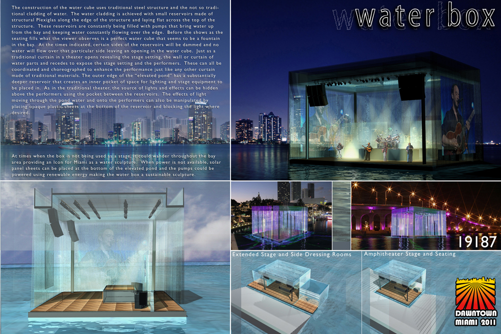 THE WATERBOX 3rd place: Igor Reyes Team: NBWW Coral Gables, Florida