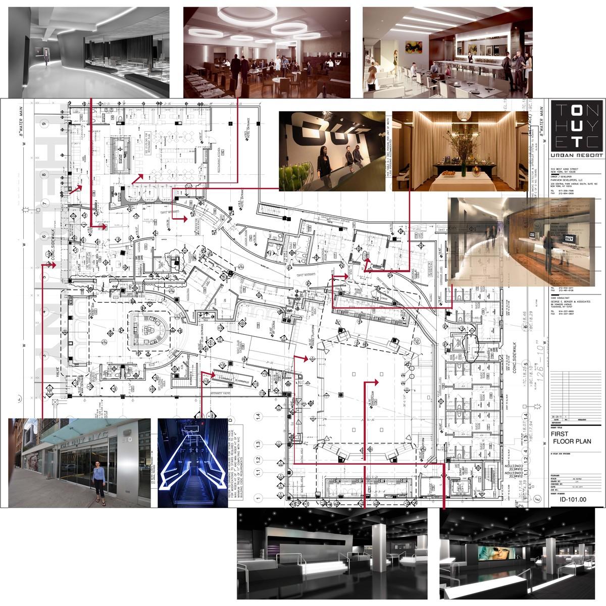First floor Plan - Club,Dance Floor,Bar,Hotel Lobby,Reception