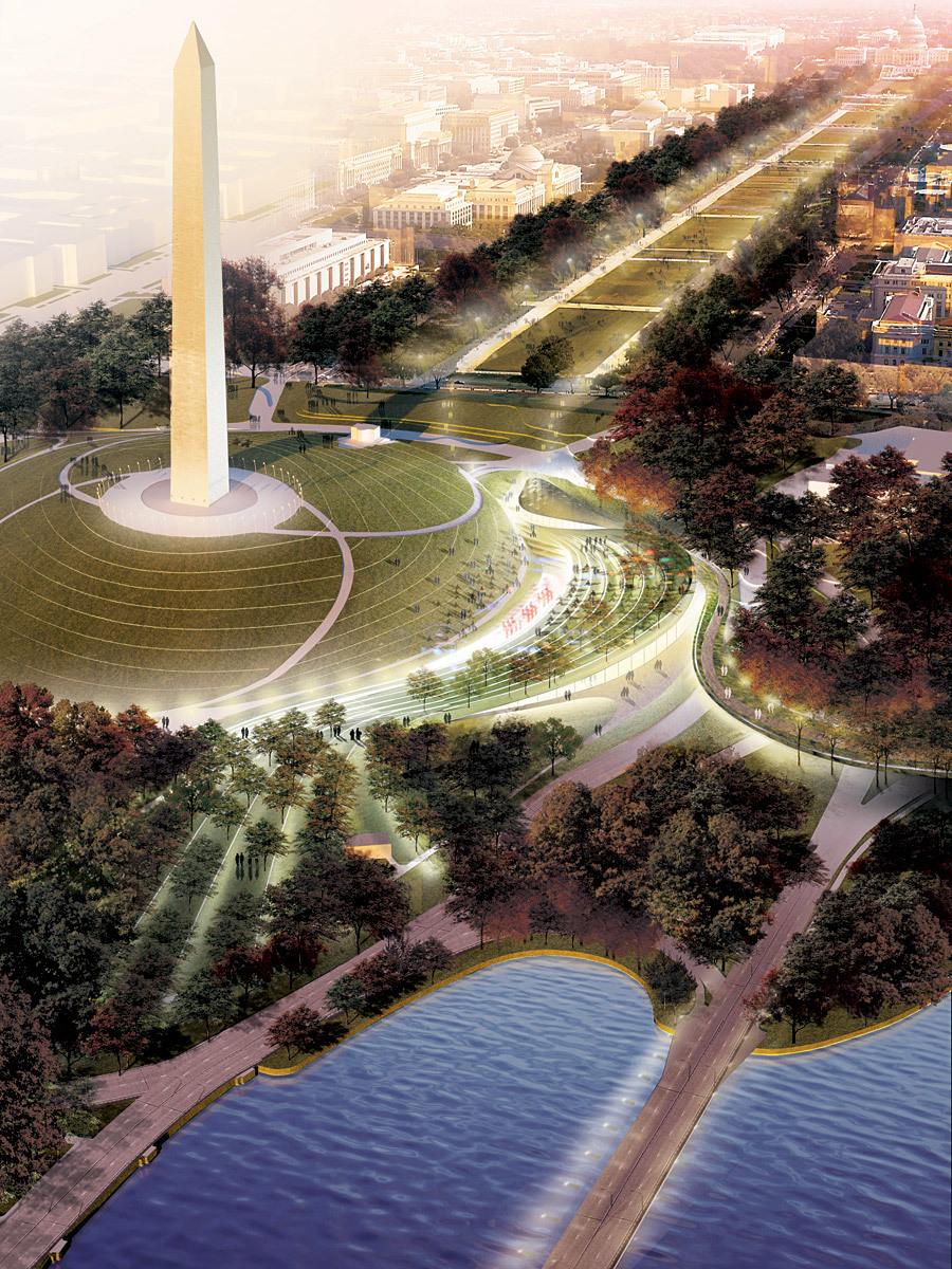 Winner Sylvan Theater on the Washington Monument Grounds: OLIN + Weiss/Manfredi