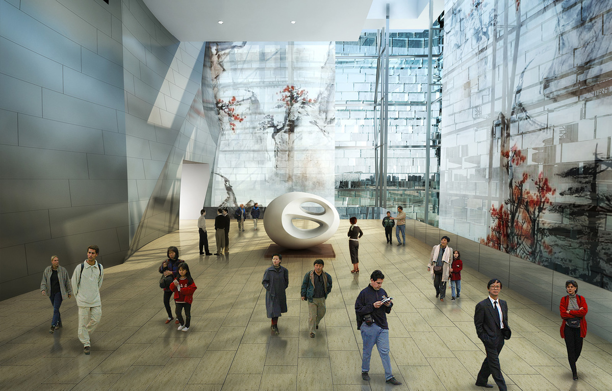 Sculpture gallery (Image courtesy of Gehry Partners)