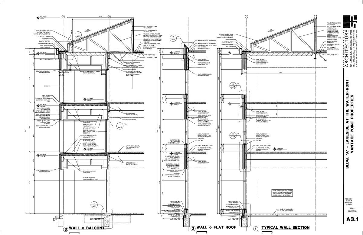 Vantage Wall Sections and Details