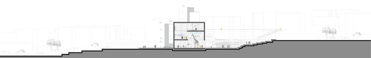 022 – SECTION B-B   1/200 - Image Courtesy of ONZ Architects