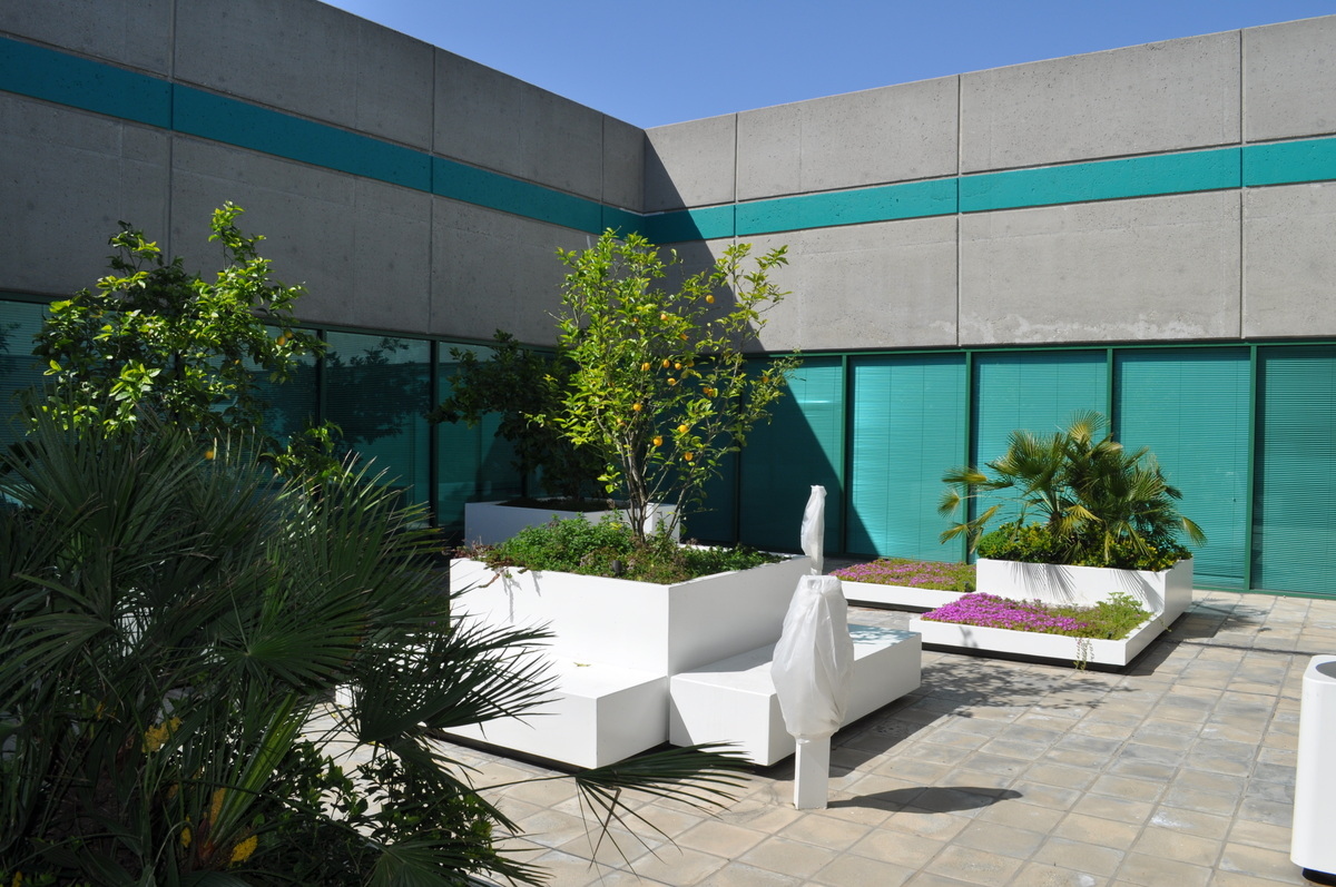 New courtyard/landscape design
