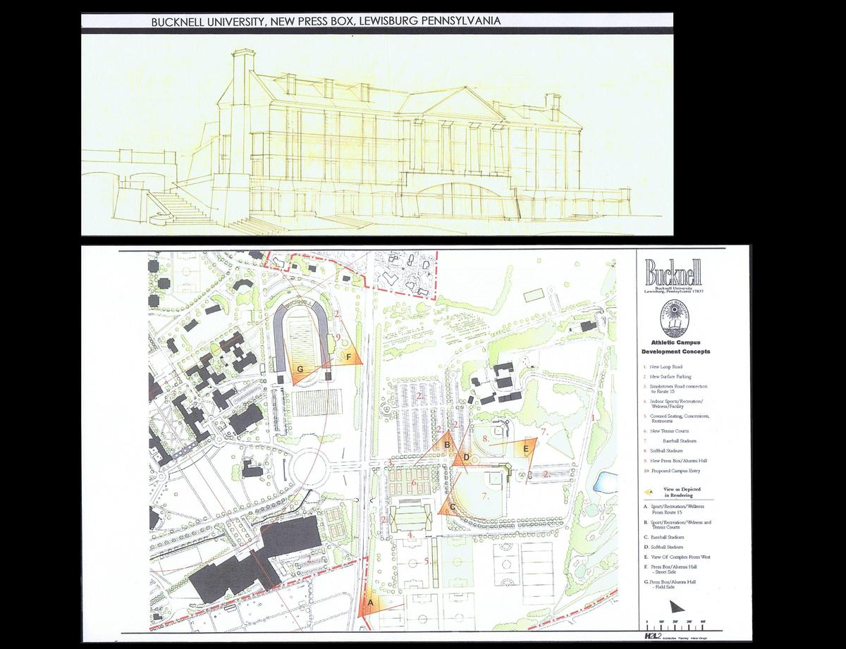 Initial Sketch of the Building, Site Plan (Bldg. #9 on plan)