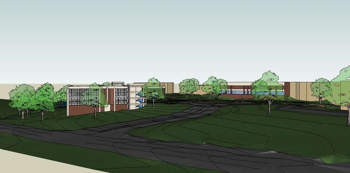 New Campus Entry View - Sketchup Model