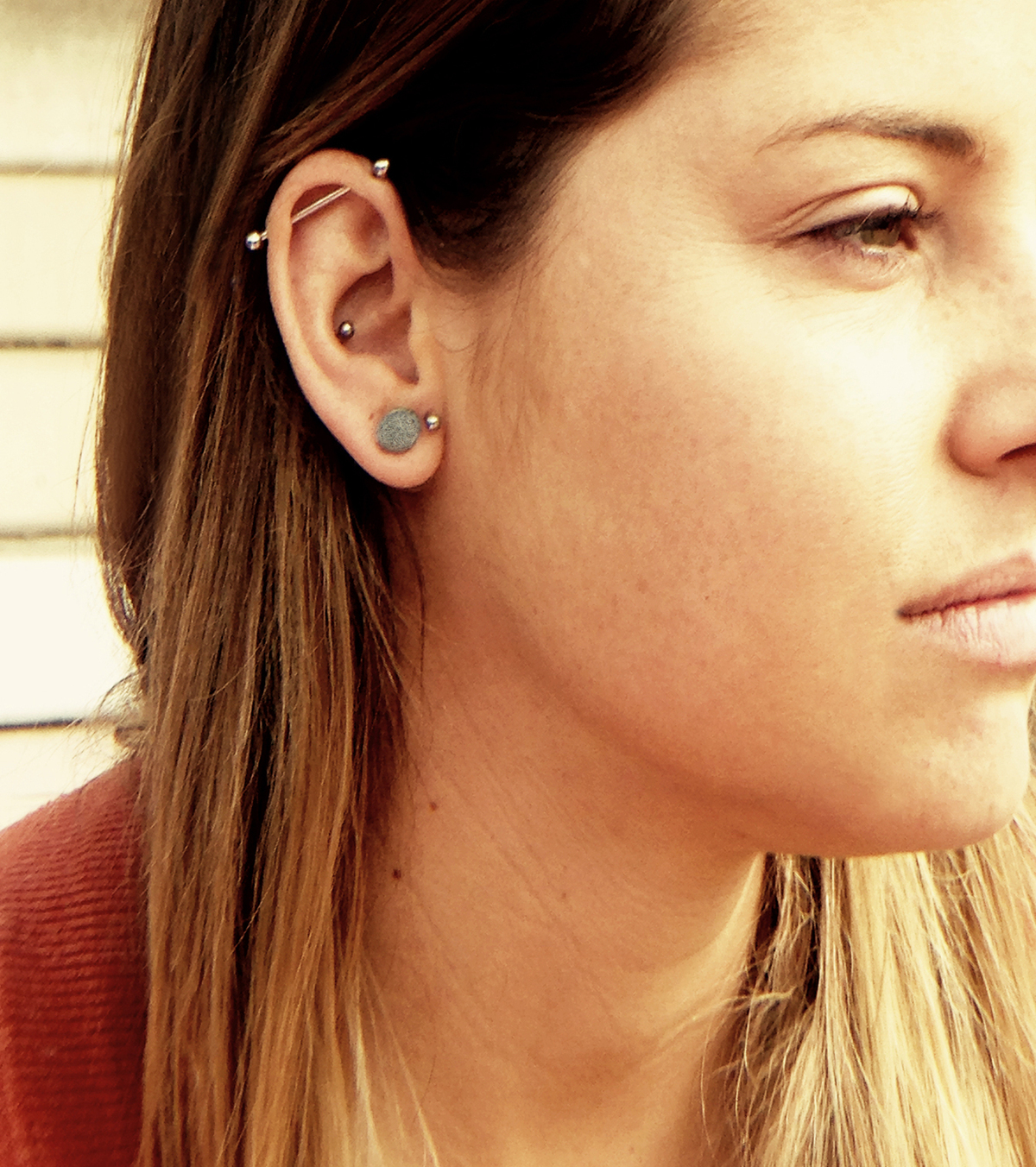 Earrings by Architact Collective. Photo courtesy of Linda Bennett.