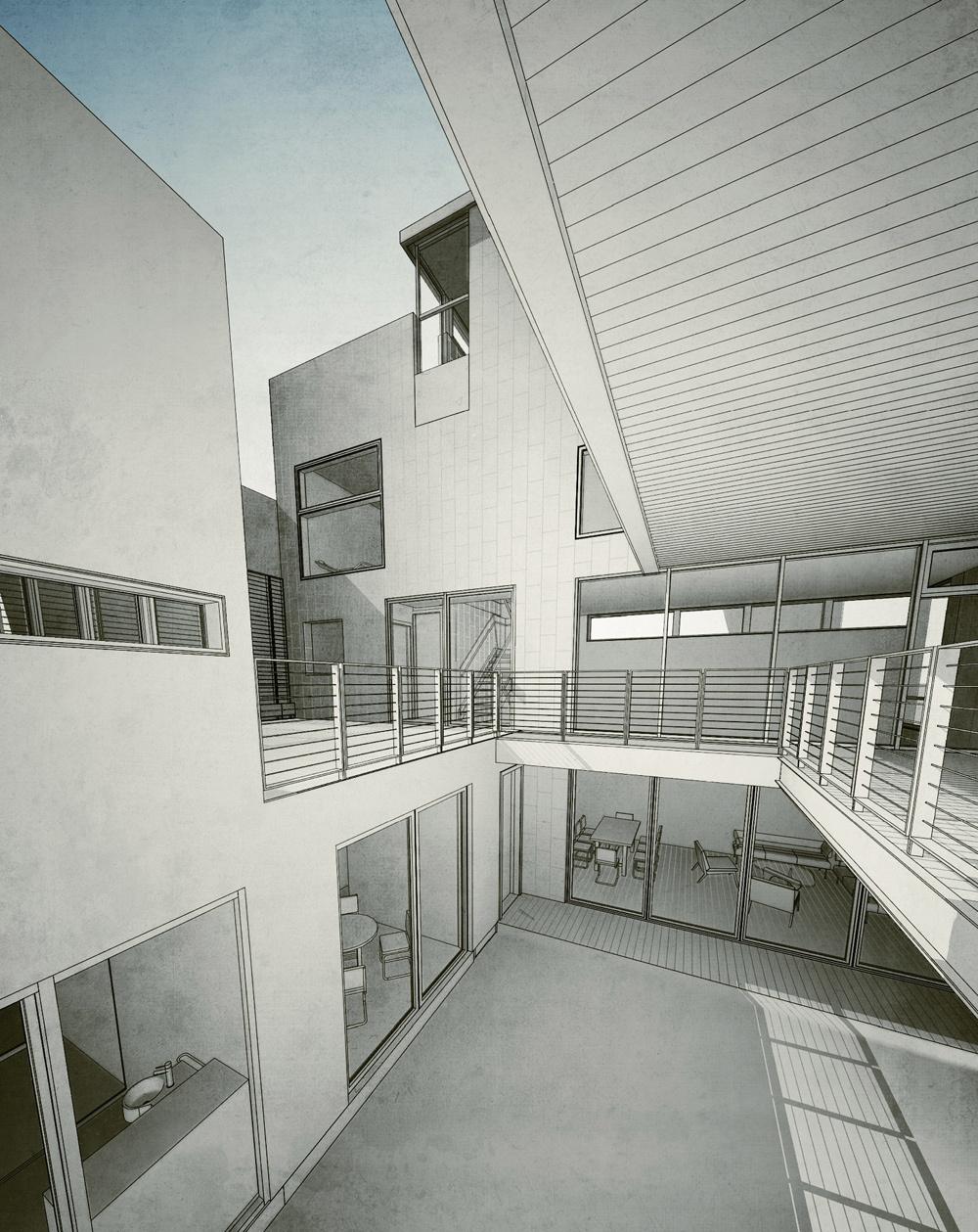 From vertical garden to south facade. PAUL CREMOUX studio
