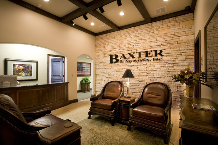 Baxter & Associates office - Designed and detailed high upscale office interiors.