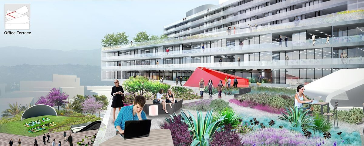 Office Terrace, Image © OMA
