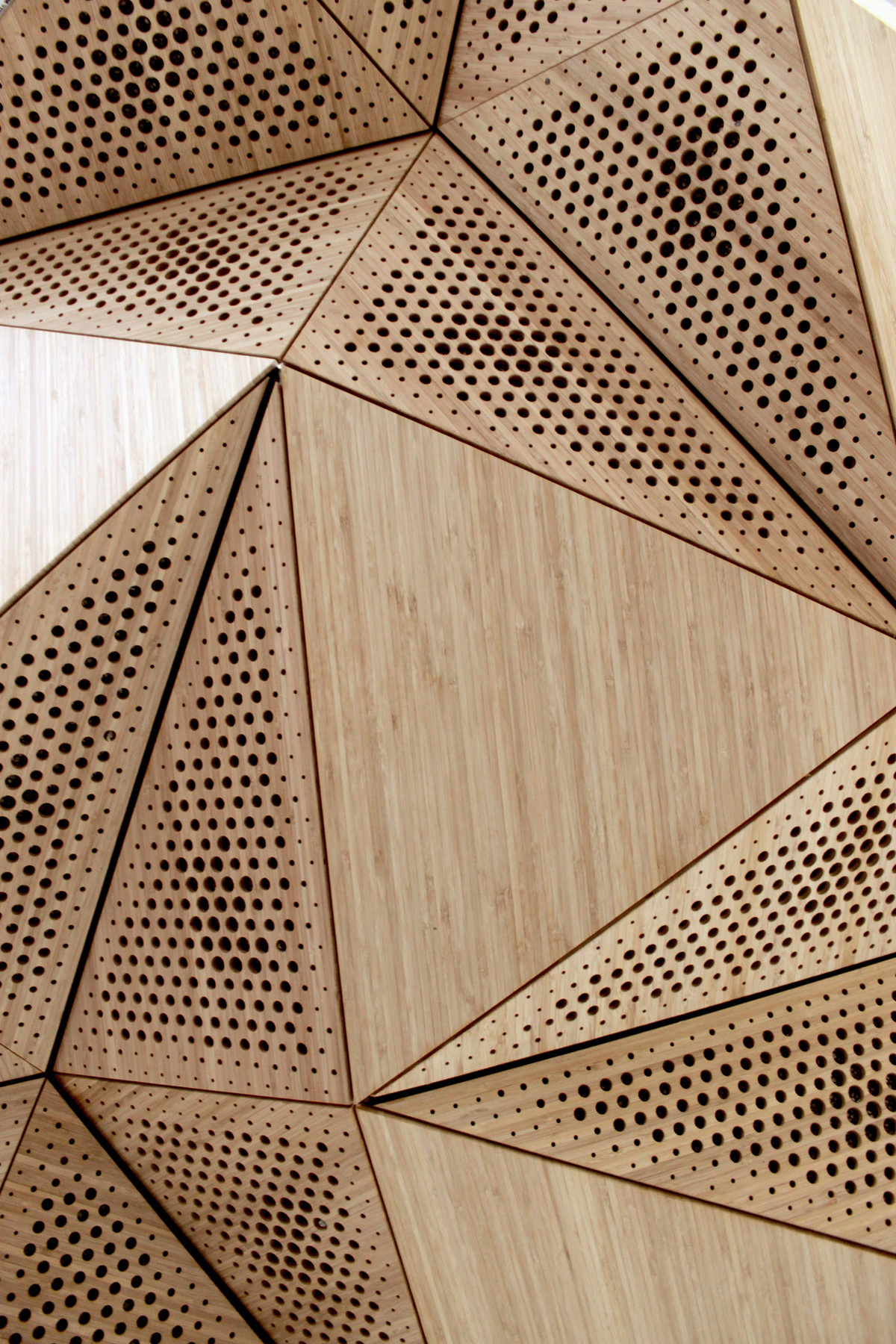 underside of acoustic soffit