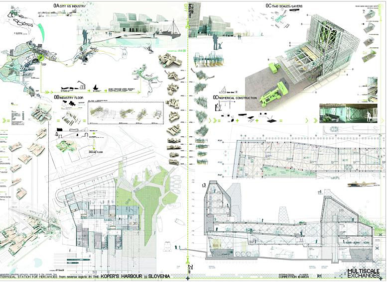 Honorable Mention: MULTISCALE exchanges; Autor: RICARDO MAYOR LUQUE; University: Escuela Técnica Superior de Arquitectura de la University de Alcalá de Henares (Madrid); Country: Spain