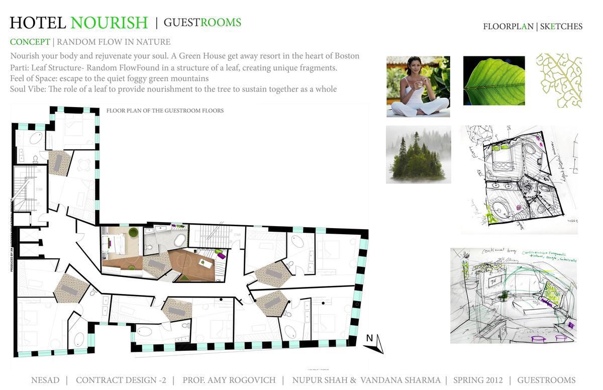 Concept, Floor Plan, Sketches- Guestrooms