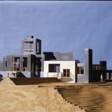 Frank Gehry, Sirmai-Peterson House, Model, 1983-1988 Thousand Oaks, California, Frank Gehry Papers at the Getty Research Institute, © Frank O. Gehry.