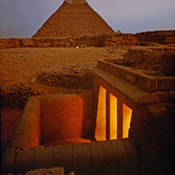 Newly excavated tombs at Giza. Shot for Condé Nast Traveler in Egypt, 1990. © Paul Warchol.