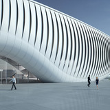 Rendering, kinetic media facade (Image: soma)