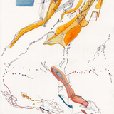 Drawings on John Cage by Nurhan Gokturk