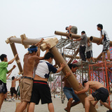 Hualin Temporary Elementary School, 2008, Chengdu, China. Photo by Voluntary Architects' Network