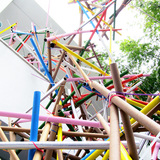 Collapse Construction in Los Angeles, CA by Formation Association in collaboration with Los Angeles artists, Edgar Arceneaux and Nery Gabriel Lemus; Photo: Hammer Museum