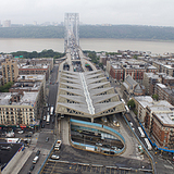 George Washington Bridge + Pier Luigi Nervi's bus terminal by Lian at GSD