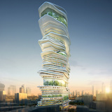"""SURE Architecture's winning """"Endless City"""" skyscraper proposal for the streets of London. Image courtesy of SURE Architecture"""