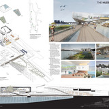 2nd Prize: The Hudson Exchange by Eliza Higgins, Cyrus Patell, Chris Starkey, and Andrea Vittadini, Brooklyn, NY