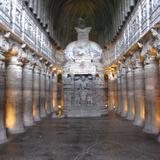 Caves of Ajanta (A chaitya griba) via amlocke.