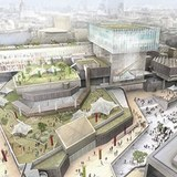 The Southbank Centre revamp proposals, by architects Feilden Clegg Bradley, include a 'floating' glass pavilion. Photograph: Southbank Centre/Press Association