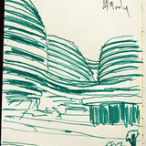 quick sketch of Zaha Hadid's Galaxy Soho via Alexander Morley
