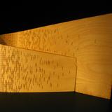 curved wood lamp via JNBouchard.