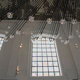 .PSLAB's chandelier at The Jane restaurant. Photo courtesy of .PSLAB.