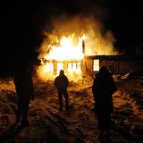 Burning house in Manitoba via Shannon