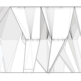 Section drawing with structural details for